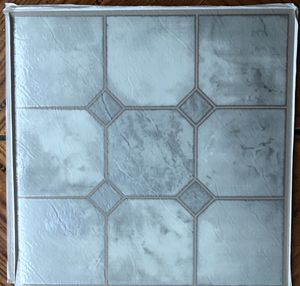 Beautiful silver grey colored Self stick tiles vinyl flooring for Sale in Silver Spring, MD