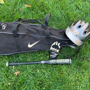 Baseball Bag, Helmet, Glove And Bat Beginner Set for Sale in Rye, NY