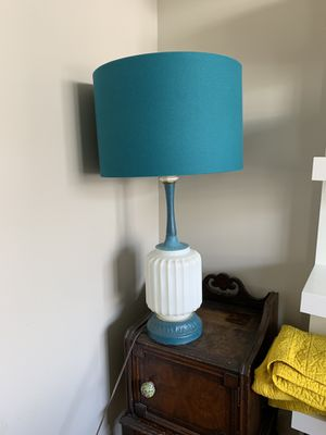 Teal and White Antique Lamp for Sale in Vienna, VA