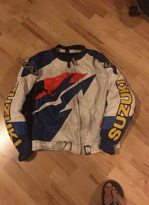Leather Suzuki motorcycle jacket for Sale in Tacoma, WA