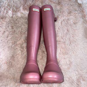 Pink Hunter Tall Rain Boots, Womens 8 for Sale in Manassas, VA