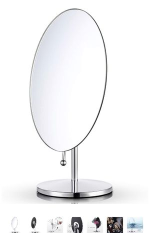 Miusco Tabletop Vanity Makeup Mirror, Oval, Chrome for Sale in Burbank, CA