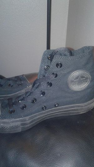 Fits 6.5Y New Champion Shoes and black high top converse for Sale in BETHEL, WA