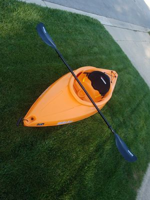 1 Person Sit-In Kayak Boat 8 ft High Density Fishing Canoeing with Paddle for Sale in Chicago, IL
