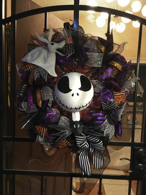 Nightmare Before Christmas Jack Skellington custom made wreath Halloween for Sale in Las Vegas, NV