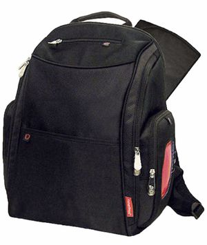 Fisher Price black backpack diaper bag. Excellent condition for Sale in Sanford, FL