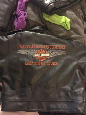 Kids size 6 Harley Davidson leather jacket for Sale in Lake Charles, LA