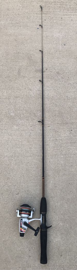 Abu Garcia reel fishing pole and ugly stik rod 1 piece 4.8Ft for Sale in San Bernardino, CA