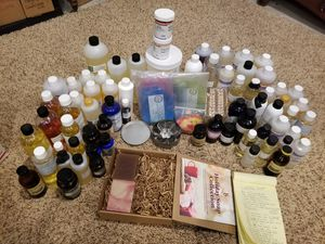 Lot #2 fragrance oils, bath bombs supplies, candle making, crafter for Sale in Marysville, WA