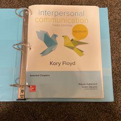 Interpersonal communication Third Edition (Clark College) for Sale in Battle Ground,  WA