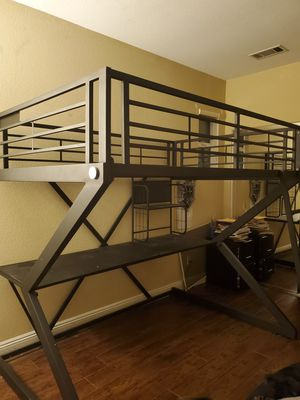Metal loft bed for Sale in Fullerton, CA