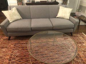 Grey mid century modern sofa for Sale in Arlington, VA