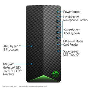 HP Pavilion Gaming R5 1650 Super, 8GB/256GB Gaming Desktop Tower for Sale in Little Elm, TX