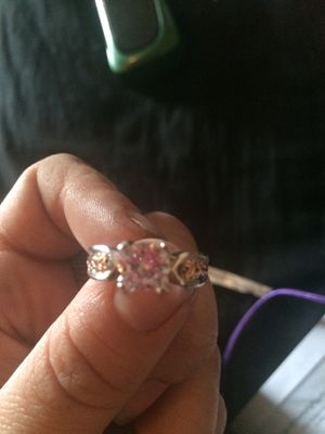 1/4 carat white topaz wedding/engagement ring set in sterling silver for Sale in Terre Haute, IN