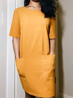 forever 21 mustard t-shirt dress (small) for Sale in Issaquah, WA