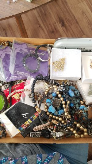 $20 obo box of Jewelry, pins, necklaces, rings, bracelets for Sale in Temple City, CA