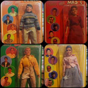 """HAPPY DAYS 8"""" ACTION FIGURES for Sale in Lakewood, OH"""