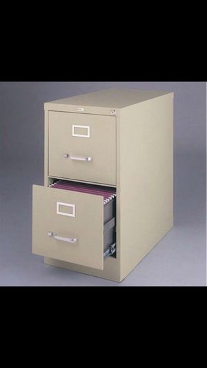 Hirsh 22-inch Deep 2-Drawer, Letter-Size Vertical File Cabinet, Putty for Sale in Detroit, MI