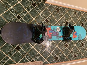 Sierra Stunt Wide 153cm Snowboard with Rome S90 Bindings for Sale in Laurel, MD