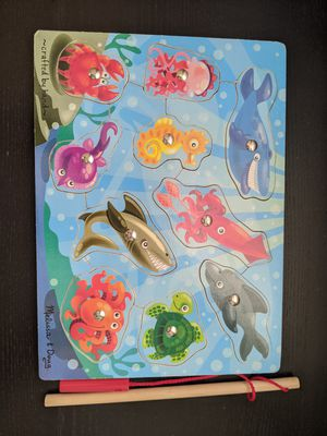 Melissa and Doug puzzles - kids puzzles - puzzles - kids toys - Melissa and Doug magnetic puzzle - Melissa and Doug fishing game - like new for Sale in San Diego, CA