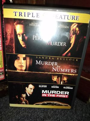 A Perfect Murder/Murder by Numbers/Murder in the First DVD num8ers Triple Featur for Sale in Fall River, MA