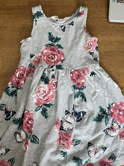 H&M Girls Floral Butterfly Swing Dress Cotton Jersey Size 2-4yrs for Sale in Methuen,  MA