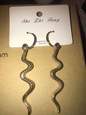 Snake hoop earrings for Sale in Chicago, IL