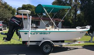 2001 1520 Keywest Center Console Flats Bay Boat Mercury Motor & Aluminum trailer for Sale in Spring Hill, FL