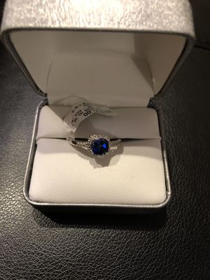 NEW Sterling Silver 925 1.08 TW Sapphire Ring, Sz 8 for Sale in Chicago, IL