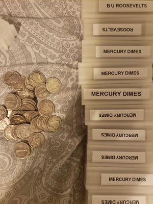 90% Mercury and Silver Roosevelt Dimes for Sale in Tampa, FL
