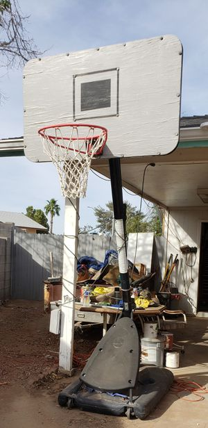 FREE - 10 ft Basketball Hoop for Sale in Glendale, AZ