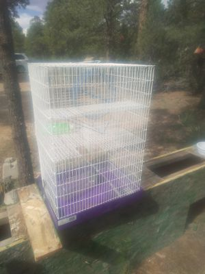 Hampster cage 3 levels with attached running. Wheel and water drinking for Sale in Mesa, AZ