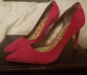 Sam Edelman Womens Hazel Hot Pink Suede Pumps Size 7 for Sale in Austin, TX