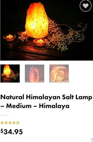 Natural Himalayan salt lamps all 3 for $80 for Sale in Spring, TX