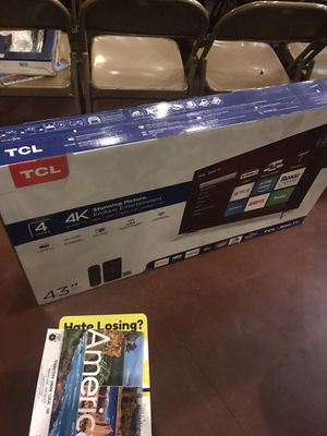 """4K tv (TCL) 43"""" for Sale in March Air Reserve Base, CA"""
