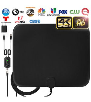 Amplified HD Digital TV Antenna Long 120 Miles Range - Support 4K 1080p Fire tv Stick and All Older for Sale in Tucson, AZ