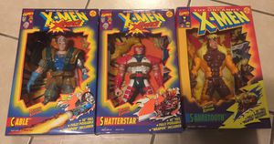 Vintage 1993 Toy Biz Deluxe 10 inch Toy Action Figure Marvel Comics X-Men Cable Shatterstar Sabretooth MIB Comic Book for Sale in Brooklyn, NY