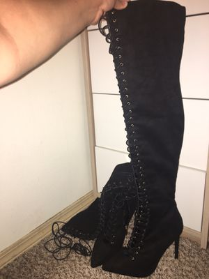 Thigh high heel boots for Sale in Portland, OR