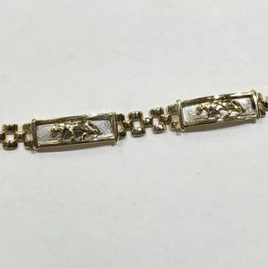 "14K Yellow Gold Woman's Panther Plate / Rolex Link Bracelet 7"" 90334-1 for Sale in Tampa, FL"