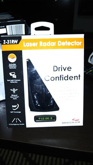 WHISTLER Laser Radar Dectector for Sale in Pasadena, TX