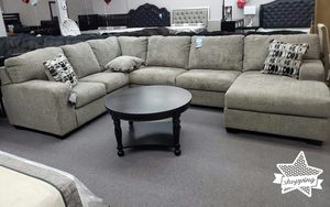 Brand New Platinum Oversized Sectional Sofa / U Shaped Couch ♦️$39 down payment for Sale in Houston, TX