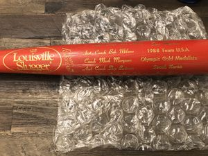 1988 USA Olympic Gold Medalists Red Louisville Slugger 125 Bat with Players and Coaches Signatures Engraved in Gold *EXTREMELY RARE ITEM* Excellent C for Sale in Hayward, CA