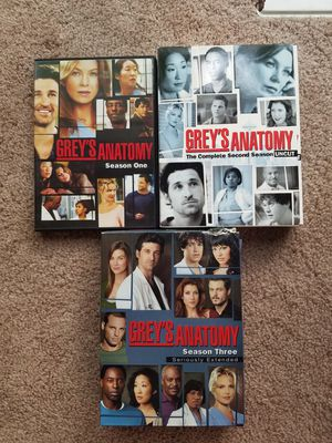Greys Anatomy Seasons 1,2,3 for Sale in Cary, NC