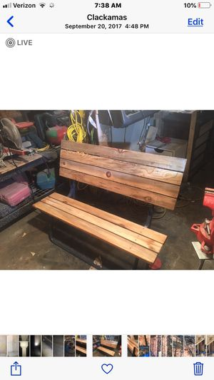 Vintage bench /table that breaks down in seconds for Sale in Clackamas, OR