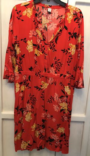 Red Floral Dress Ladies Size XL for Sale in San Jose, CA