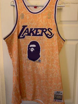 Los Angeles Lakers BAPE Jersey Size XXL for Sale in Las Vegas, NV