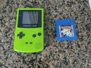 Nintendo Gameboy Color Kiwi Green with Pokémon Blue Version for Sale in Sacramento, CA