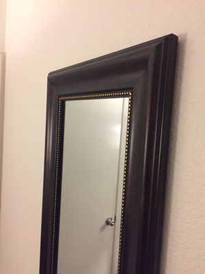 Dark brown tall mirror 1ft and 8cm W - 5ft 3cm Tall for Sale in San Jose, CA