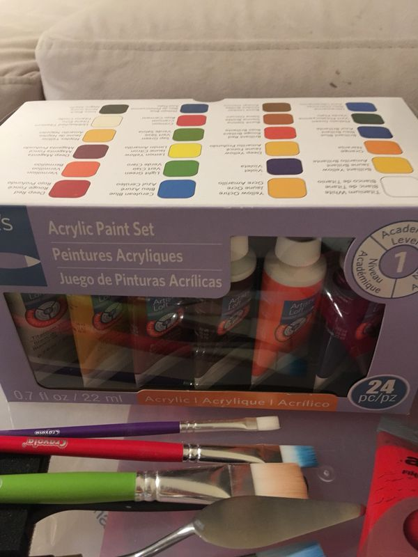 Acrylic paints and accessories