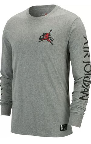 Nike Men's Air Jordan Classic Long Sleeve Crew Tee Carbon Heather AT8897-091 for Sale in Mechanicsburg, PA
